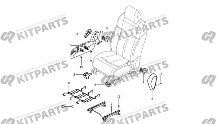 Сиденье пассажира - механизмы и ручки Dong Feng AX7