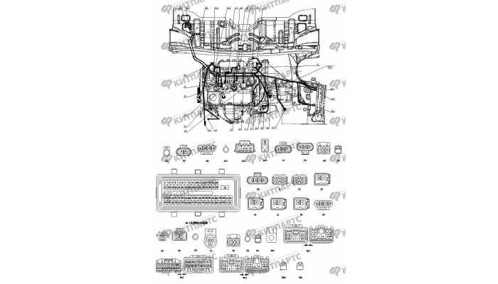 Жгут проводов двигателя BYD F3 (F3R)