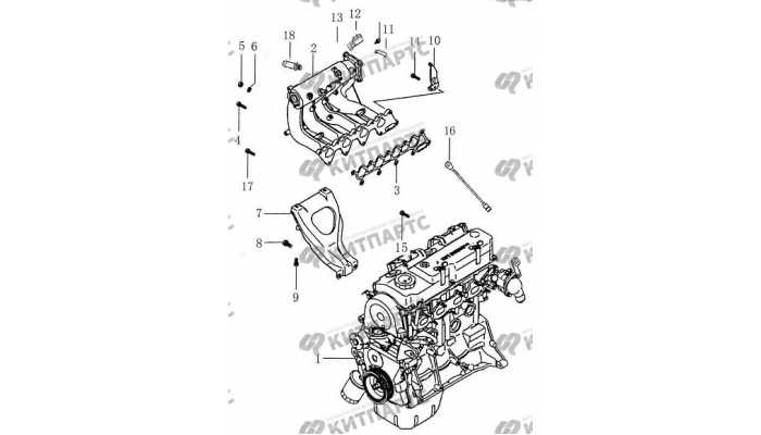 Впускной коллектор BYD F3 (F3R)