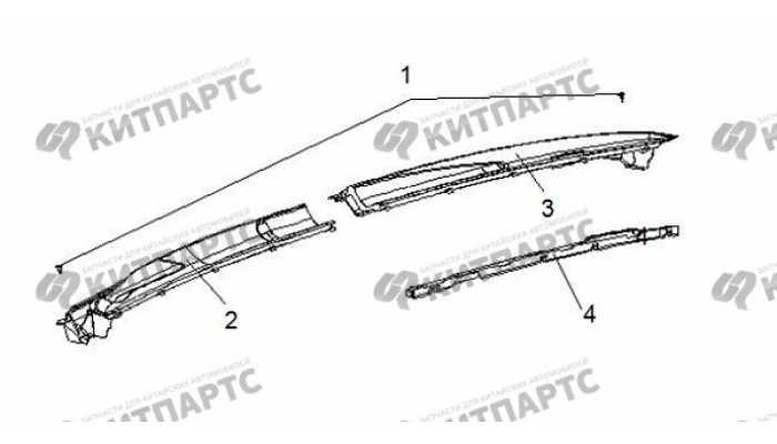 Панель стеклоочистителя BYD F3 (F3R)