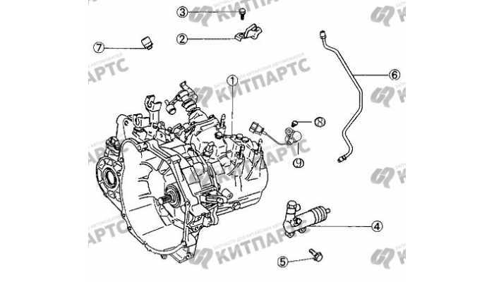 Трубки и цилиндр сцепления BYD F3 (F3R)