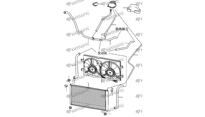 Радиатор двигателя Chery Amulet (A15)