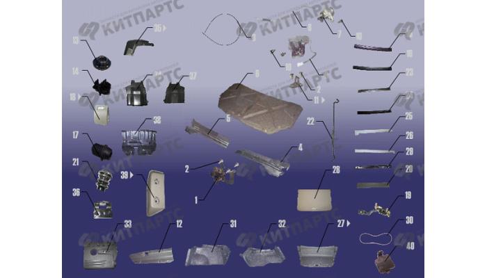Компоненты багажного и моторного отсеков Chery Fora (A21)