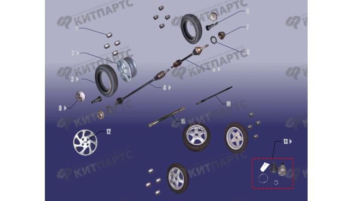 Привод колеса Chery Fora (A21)