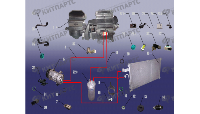 Система кондиционирования Chery Fora (A21)