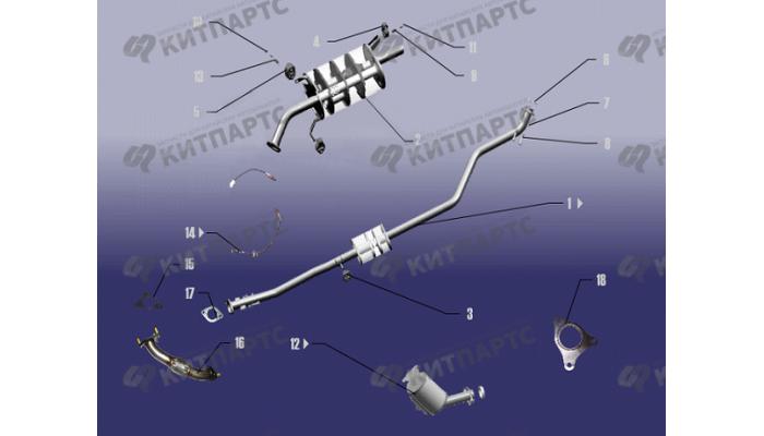 Выхлопная система Chery Fora (A21)