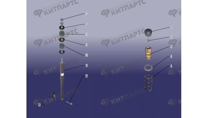 Стойка заднего амортизатора Chery Tiggo (T11)