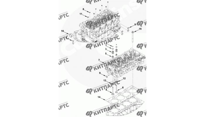 Головка блока цилиндров Cummins 2.8 ISF