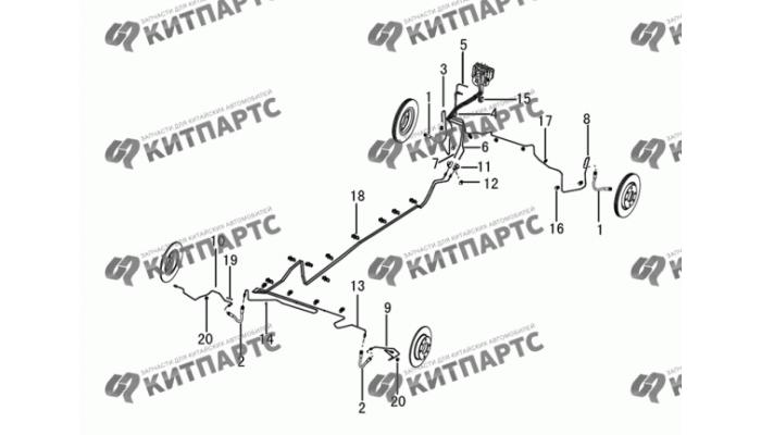 Тормозные трубки Dong Feng H30 Cross