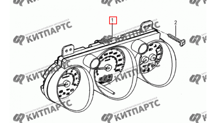 Комбинация приборов Dong Feng S30