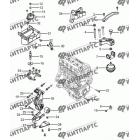 Подвеска двигателя с АКПП S30 (E-Teco)