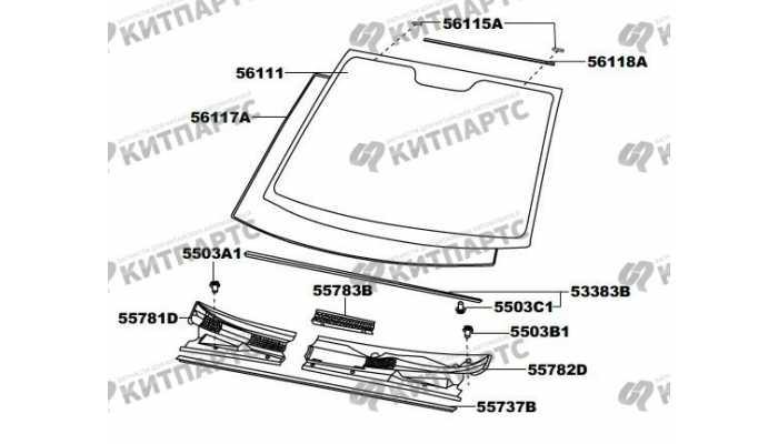 Стекло лобовое и панель стеклоочистителя FAW Vita