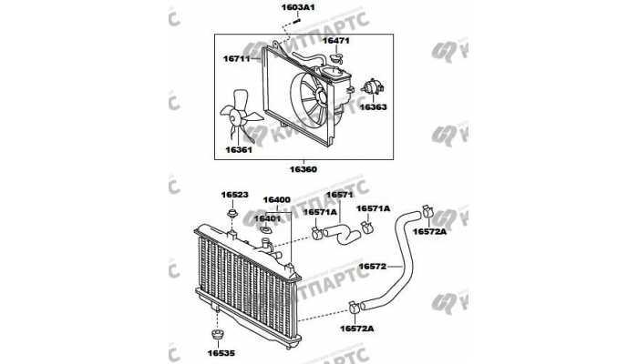 Радиатор охлаждения двигателя FAW Vita