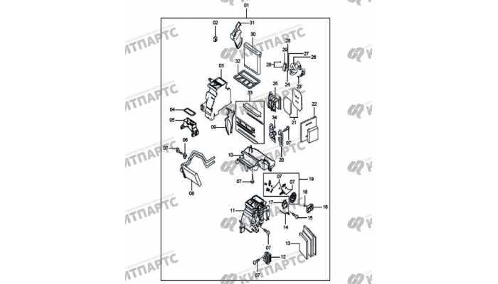 Компоненты одно-зонного климатконтроля FAW Besturn X80