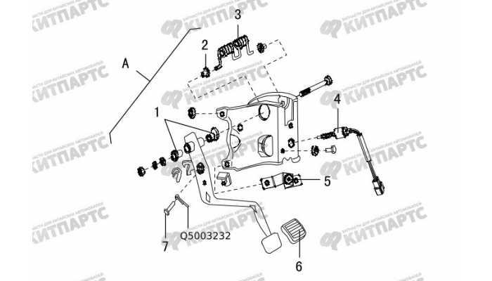 Педаль сцепления Great Wall Hover H5