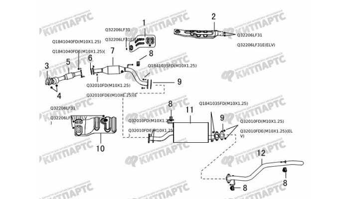 Выхлопная система Great Wall Hover H5