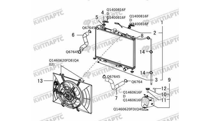 Радиатор охлаждения двигателя Great Wall Hover H5