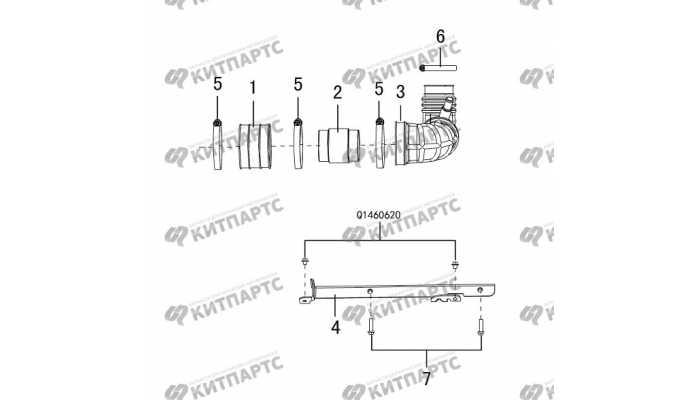 Патрубок воздушного фильтра 4D20 (дизель) Great Wall Hover H5