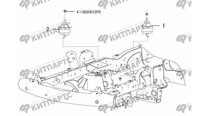 Подушки двигателя 4D20 (дизель) Great Wall Hover H5