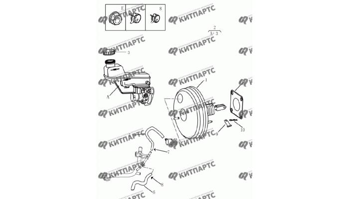 Усилитель вакуумный Geely Emgrand (EC7)