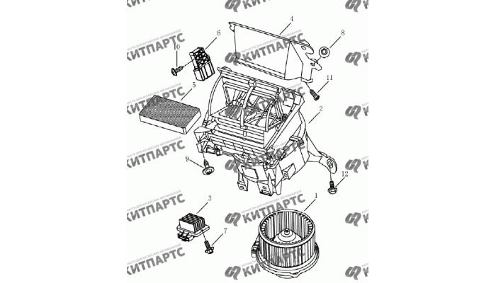 Вентилятор Geely Emgrand (EC7)