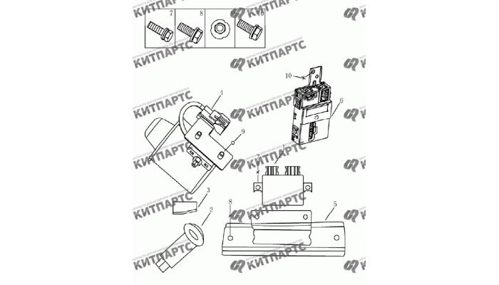 Блок центрального замка (седан) Geely Emgrand (EC7)