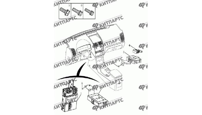 Блок кузовной электроники (хетчбэк) Geely Emgrand (EC7)