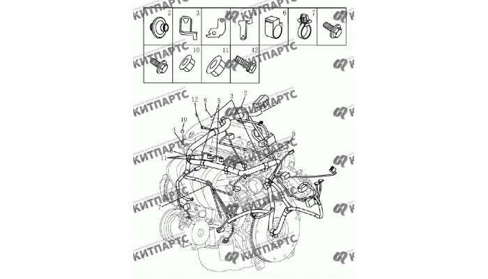 Жгут проводов двигателя Geely Emgrand (EC7)