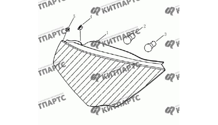 Фонари задние (седан) Geely Emgrand (EC7)