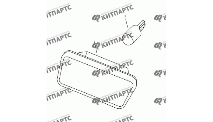 Лампа багажника (хетчбэк) Geely Emgrand (EC7)
