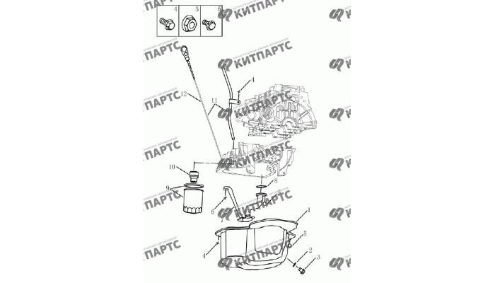 Масляный картер (1,5 L DVVT) Geely Emgrand (EC7)