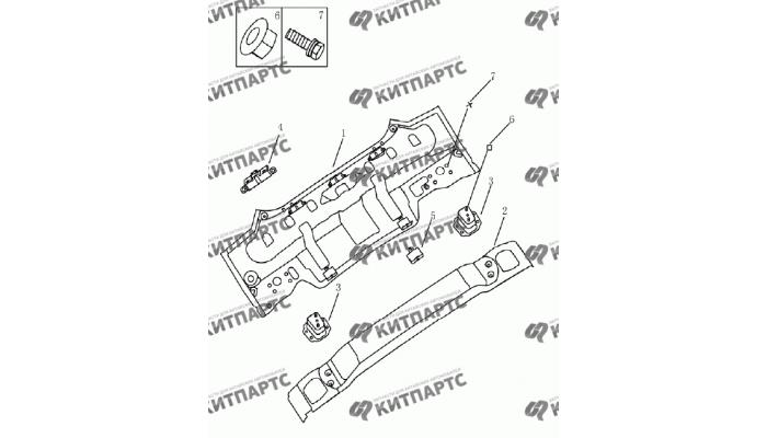 Панель задняя (седан) Geely Emgrand (EC7)