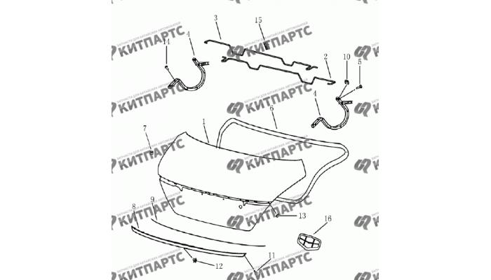 Крышка багажника (седан) Geely Emgrand (EC7)