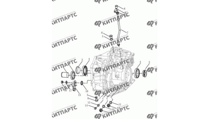 Корпус вариатора Geely Emgrand (EC7)
