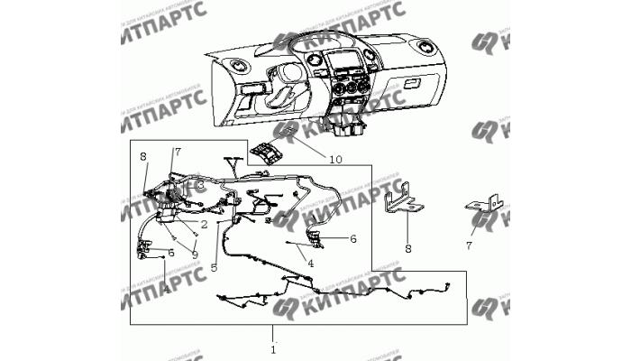 Жгут проводов панели приборов Geely MK