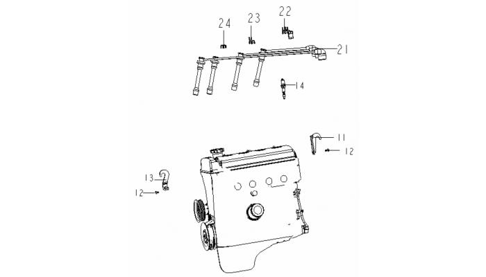 Провода высоковольтные Geely MK