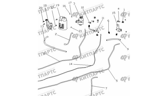 Трубки топливные и абсорбер (EURO III) Geely Otaka (CK)