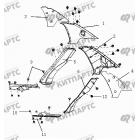 Накладки внутренние задних стоек