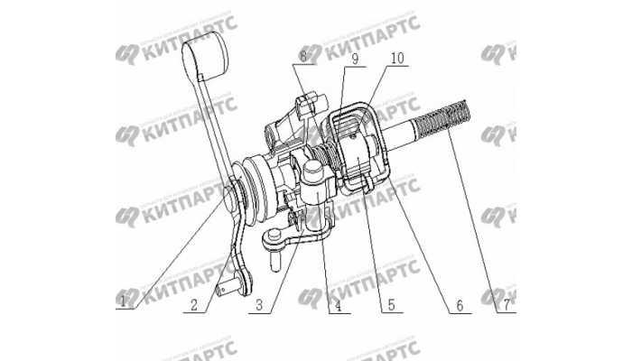 S160G Механизм выбора передач Geely Otaka (CK)