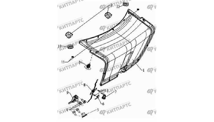 Обивка крышки багажника Geely Otaka (CK)