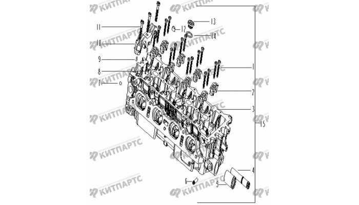 Компоненты головки блока цилиндров Geely Vision (FC)