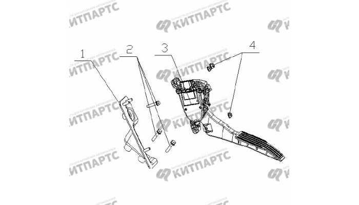 Педаль газа электронная Geely Vision (FC)