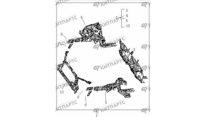 Панели моторного отсека Geely Vision (FC)