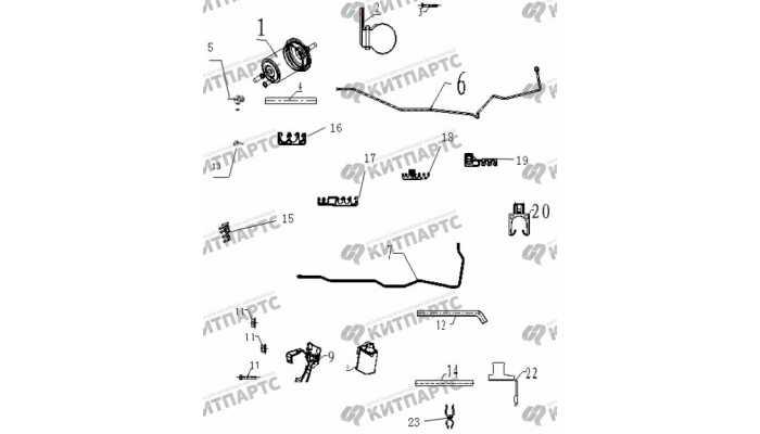 Трубки топливные Geely Vision (FC)