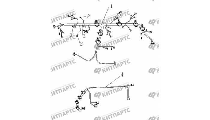 Жгут проводов приборной панели Geely Vision (FC)