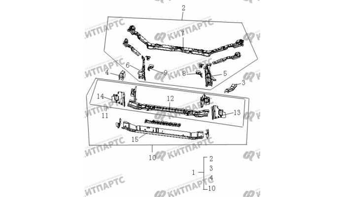 Панель радиатора Geely Vision (FC)