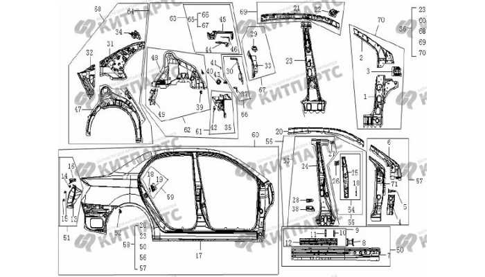 Панель кузова боковая правая Geely Vision (FC)