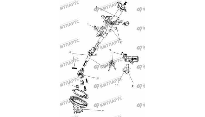 Колонка рулевая Geely Vision (FC)